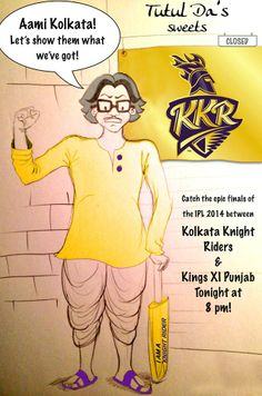 #TutulDa is all pumped up to watch the #Knights battle it out in Bengaluru, tonight at 8PM IST!  #KorboLorboJeetbo #OneTeamOnePledge #GoForGold #ISupportKKR