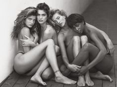 Herb Ritts, « Stephanie, Cindy, Tatjana, Naomi – Hollywood, 1989″
