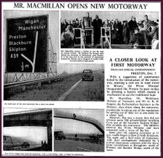 5th December 1958 - Opening of the first motorway - Preston bypass