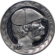 Marcus Hunt - Joey the Walrus Hobo Nickel, Coin Collecting, Buffalo, Cactus, Coins, Carving, The Originals, Art, Drawings