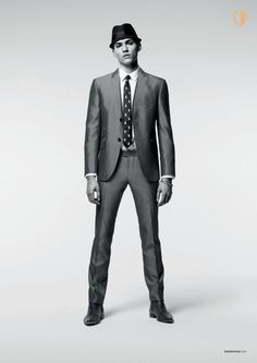 If I have to wear a suit then I'd rock one of these. Too bad I'll never be skinny enough for one...