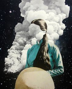 Collage and mixed media art by Connecticut-based illustrator Tyler Varsell. Surreal Collage, Surreal Art, Collage Art, Art Collages, Photomontage, Cloud Art, Arte Pop, Art Graphique, Art Plastique