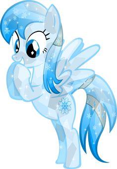 mlp frozen   Crystal Frozen Snowflake by me