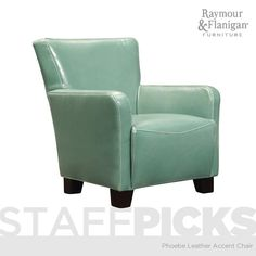 Phoebe Leather Accent Chair | This accent chair is ready to adorn your space with its gorgeous bicast leather and chic modern styling.