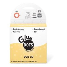 Glue Dots Glue Dots 1/2-Inch Pop Up Dots, 75-Clear Dots/Roll