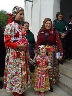 Dresses with folk motives Hungary