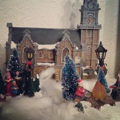 #christmas #village #town #church #december #people