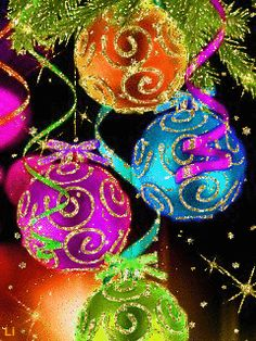 GIFS HERMOSOS: cosas navideñas encontradas en la web Merry Christmas To All, Christmas Scenes, Christmas Music, Christmas Balls, Christmas Colors, All Things Christmas, Winter Christmas, Christmas Tree Ornaments, Christmas Holidays