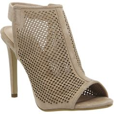Office Teagan Perforated Slingback Shoe Boots ($99) ❤ liked on Polyvore featuring shoes, boots, ankle booties, high heels, nude suede, women, nude slingbacks, booties, chukka boots and perforated booties