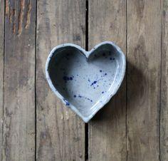 vintage ceramic pottery heart shaped bowl by littlebyrdvintage on Etsy.
