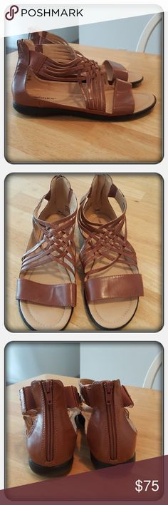 Woman's Brown Sandals Size 10M These Are Woman's Sandals Brown In Color Size 10M From Woman Within Brand Is Comfortview. These Are Super Cute & Comfy Great For Spring & Summer Months. I Wore These A Handful Of Times But They're In Great Condition With Very Little Wear To The Soles 🚫 PAYPAL 🚫 TRADES 🚫 LOWBALLING ❤ Woman Within Shoes Sandals