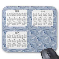 Blue Diamonds 2015-2017 Calendar by Janz Mousepad