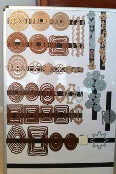 Aufbewahrung Stanzformen mit Magneten