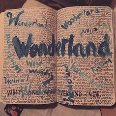 #wreckthisjournal #wreckit #kerismith #aliceinwonderland #alice #wonderland #wreckjournal