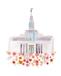 LDS Draper Utah templo impresión poster por HollyBrookeJones