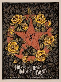 Excellent Poster to kick off spring/summer tour. May 19, 2012 Gexa Energy Pavilion, Dallas, Texas