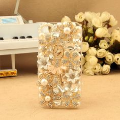 Luxury flowers crystal Ballet Girl diamond Hard Back Mobile phone Case Cover Rhinestone Case Cover for iPhone 4 5 6 6 plus Samsung galaxy 3 4