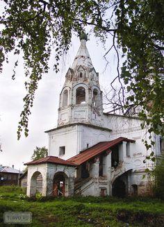 Eglise Saint-Léonce de Rostov - Veliki Oustioug - Construite entre 1742 et 1748 puis achevée en 1770 - En ruines.