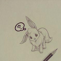 Eevee sketch by itsbirdy-OMG SO CUTE!