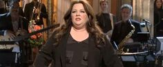 "Melissa McCarthy on SNL...""My quads are seizing up."" LOL"