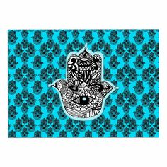 60 x 40 Fleece Blankets Kess InHouse Roberlan Kitsch Neon Blue Pink Throw