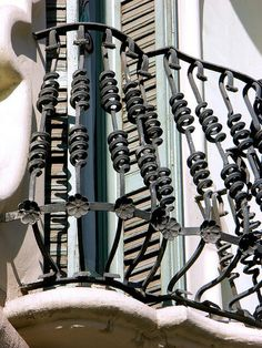 Close up of the iron work - Barcelona Balcony