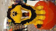 Lego Lion sculpture