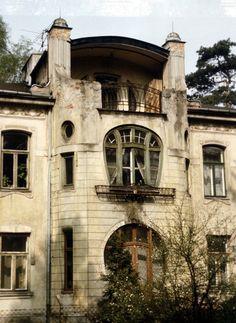 Abandoned Art Nouveau mansion in Konstancin-Jeziorna, Piaseczno County, Masovian Voivodeship, Poland.