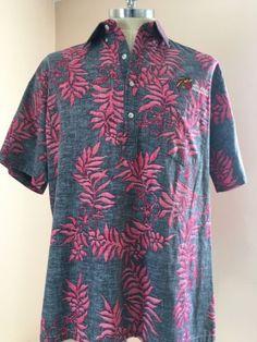94096b80 2XL Hawaiian Shirt Go Barefoot Pink Gray Aztec Summer Beach Vacation USA  XXL New