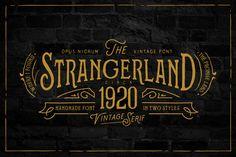 Strangerland Font + Extras