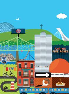 Affiche Patchwork Montréal par BonbonVisuel sur Etsy, $15.00