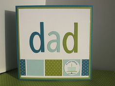 """Great """"Dad"""" card - could be used for birthday or Father's Day or just because."""