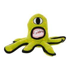 Tuffy's Pet Products Captain Kurklops Green Alien Dog Toy