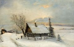 "Alexei Kondratievich Savrasov, in the words of I. Levitan, ""created the Russian landscape"", found the unparalleled way to express artistically poetic admiration of the beauty of the Russian. Watercolor Landscape, Landscape Art, Landscape Paintings, Russian Landscape, Winter Landscape, Beautiful Paintings Of Nature, Nature Paintings, Russian Painting, Russian Art"