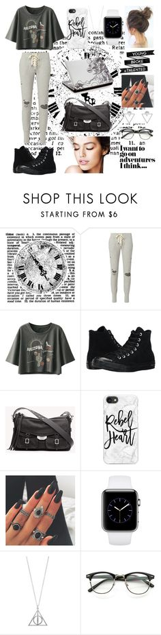 """""""Seizing the day in sweatpants"""" by jumainakmir ❤ liked on Polyvore featuring NSF, Converse, rag & bone, Casetify and Eloquii"""