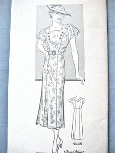 Unused 1930s Anne Adams 4046 Vintage Sewing Pattern by Fancywork