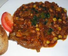 Hlivový perkelt s fazuľou Food And Drink, Diet, Cooking, Essen