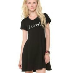 """SALE Wildfox """"Loved"""" Skater Dress S Wildfox loved dress in black. Size small. Pre-loved but in great condition. Wildfox Dresses"""