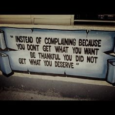 instead of complaining... by chasity