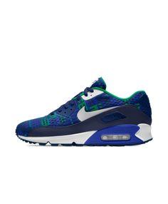 best sneakers a4663 1da9b Cheap Nike Air Max 90 Em Id Green Blue White Nike Air Max Trainers, Air
