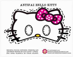 Free #Printable Masks for Kids - Hello Kitty mask, available in 4 different color bows.  So cute!