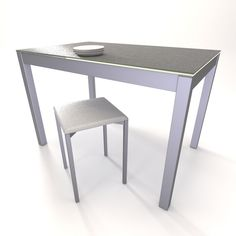 Mesa para cocina en formato fijo con encimera en Techlam porcelánico disponible en las siguientes medidas: 100x60, 110x70 y 120x80