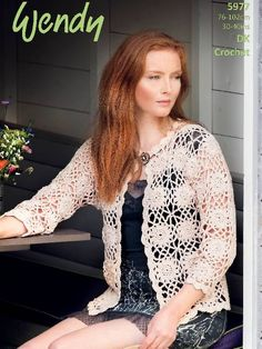 Crochet cardigan pattern for summer: download at LaughingHens.com