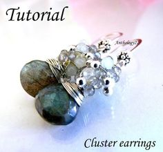 NEW Tutorial  Cluster earrings by anthology27 on Etsy,