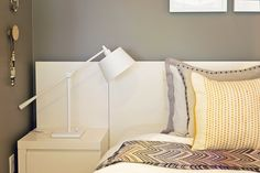 Storage Bed + Nightstands + Pillows from west elm