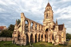 st etienne le vieux caen, real ruins after destruction during WWII