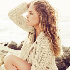 beach, wavy hair