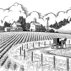 Farm Landscape Drawing - Some possess the natural born talent while others take the time to learn the ability. Some can see how colors combine perfectly like milk and coffee. It's interior designing. But you don't have to become a good arts graduate or possess an interior designer degree to...