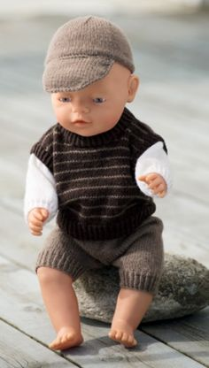 Knitting pattern, knitted dolls to doll boy Baby Born Clothes, Bitty Baby Clothes, Boy Doll Clothes, Knitting Dolls Clothes, Crochet Doll Clothes, Knitted Dolls, Baby Knitting, Crochet Baby, Doll Dress Patterns