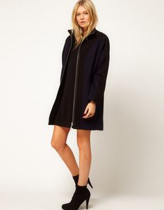 navy zip weather coat - kate spade saturday